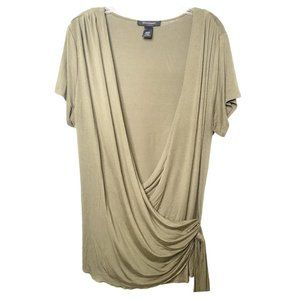 Ashley Stewart Womens Olive Knit Wrap
